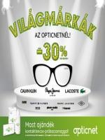 Világmárkák az Opticnetnél akár 30%engedménnyel! Komplett szemüveg akár 30% kedvezménnyel  Ráadásul új szemüvege mellé most egy havi kontaktlencse készletet ... e522b2cfc4